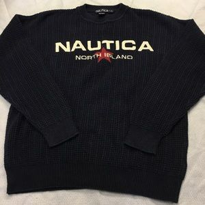 VINTAGE Nautica North Island Sweater Men's L 90s